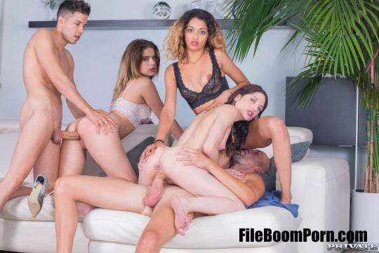TightAndTeen, Private: Alice Fabre, Rachel Adjani, Scarlet, Scarlet Domingo - College Girl Orgy With BCN [SD/360p/266 MB]