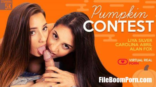 virtualrealporn: Carolina Abril, Liya Silver - Pumpkin contest [UltraHD 4K/2700p/12.0 GB]