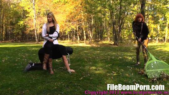 BratPrincess, Clips4sale: Chloe, Lizzy - Pony slave Ridden Around the Grounds while slave girl Does Yard Work [FullHD/1080p/511 MB]
