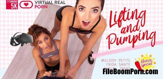 Virtualrealporn: Frida Sante, Melody Petite - Lifting and pumping - 5K [UltraHD 4K/2700p/12.8 GB]