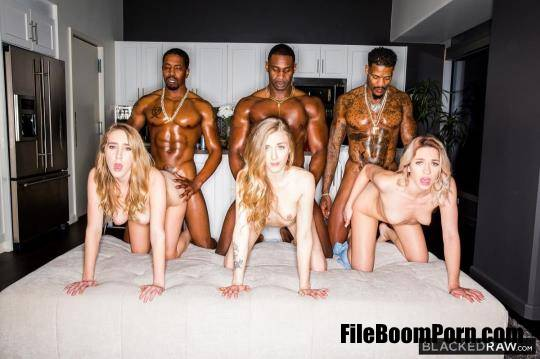 BlackedRaw: Khloe Kapri, Cadence Lux, Karla Kush - 3 on 3 [HD/720p/2.57 GB]