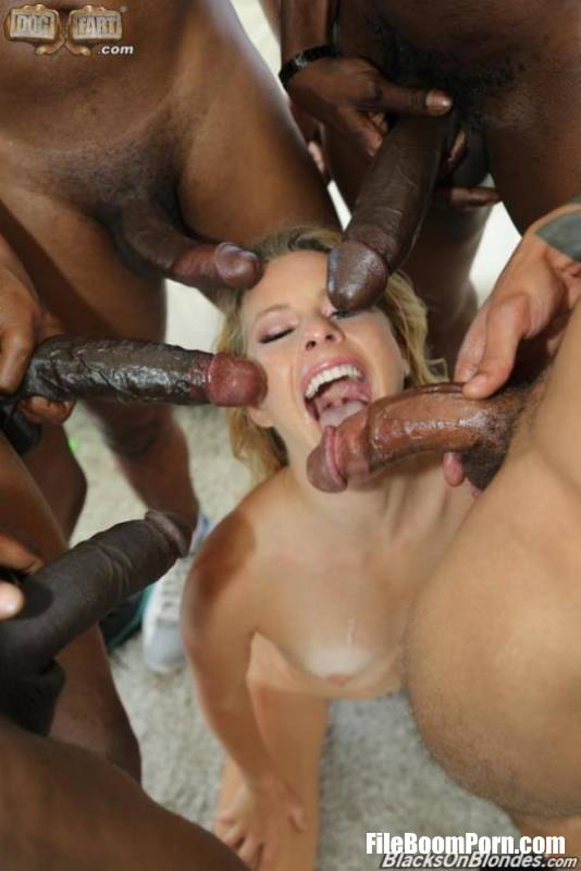 BlacksOnBlondes, DogFartNetwork: Lilly Lit, Lilly Ford - GangBang Big Black Cock [SD/432p/464 MB]