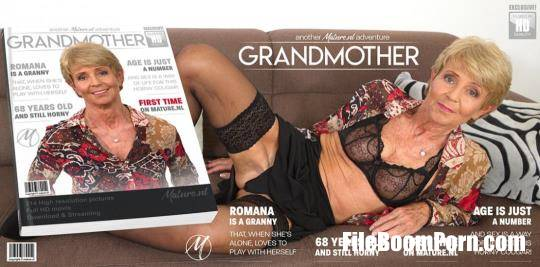 Mature.nl, Mature.eu: Romana (68) - Naughty granny having time to play with herself [FullHD/1080p/1.70 GB]