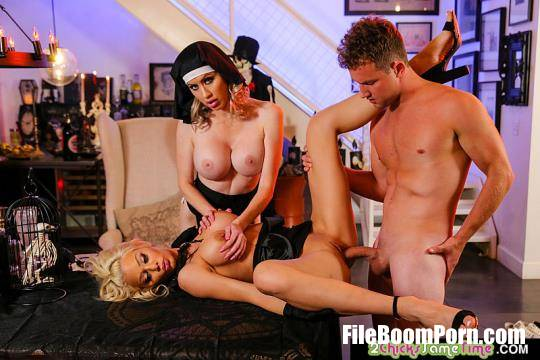 2ChicksSameTime, NaughtyAmerica: Katie Monroe, Riley Steele - Threesome sex [HD/720p/1.08 GB]