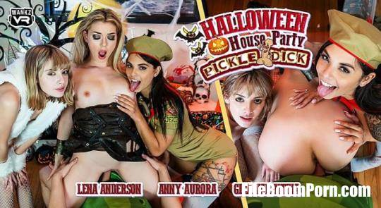 WankzVR: Anny Aurora, Gina Valentina, Lena Anderson - Halloween House Party: Pickle - Dick [UltraHD 4K/2300p/14.4 GB]