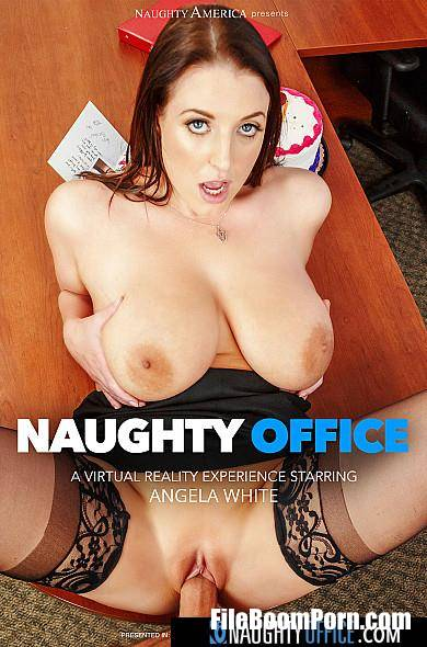 Angela White - Naughty Office / Gets a birthday surprise then gives a thankful surprise! VRvid  [HD/900p/1.40 GB] NaughtyOffice