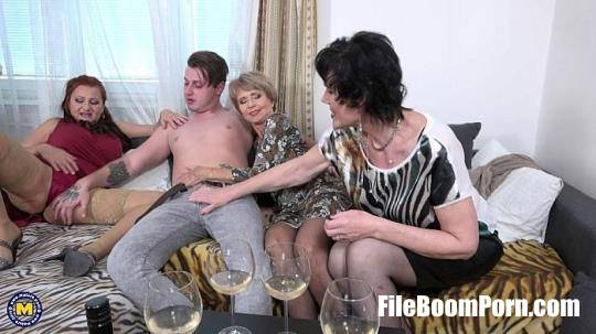 Esmeralda M. (52), Romana (69), Ryanne (63) - One lucky toyboy met three naughty mature ladies who are in for a steamy groupfuck at home. The boy is instantly willing and ready to rock their worlds! [FullHD/1080p/2.11 GB] Mature.nl