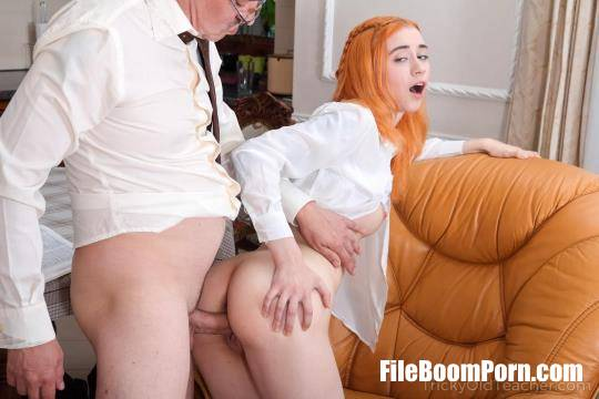 Lagoon Blaze - Grey-Haired Teacher Punishes Ginger Student [SD/480p/542 MB] TrickyOldTeacher