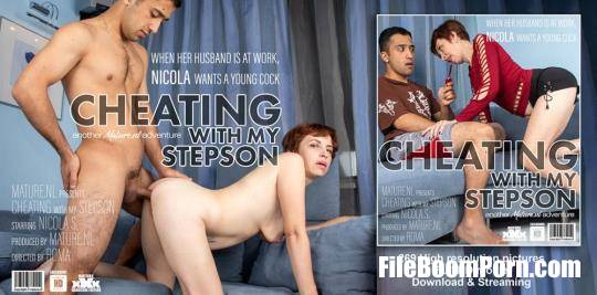 Mature.nl, Mature.eu: Nicola S - Mature Nicola is cheating with her stepson as her man is at work [HD/720p/689 MB]