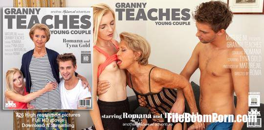 Mature.nl: Romana (69), Tyna Gold (23) - Granny teaches a young couple the ways of steamy sex [HD/1060p/1.35 GB]